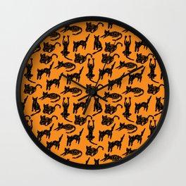 Cats Sketch Wall Clock