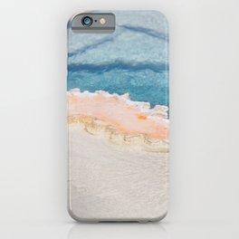 Geothermal Pool - Abstract Yellowstone Photography iPhone Case