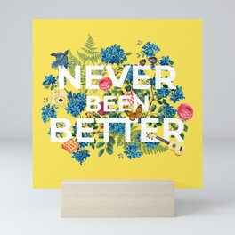 """Never Been Better"" Flower Artwork on Yellow - 100 Days of Sunlight Mini Art Print"