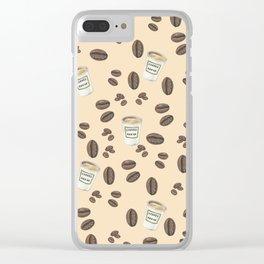 Coffee break Pattern Clear iPhone Case