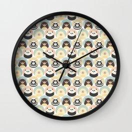 Round animal Wall Clock