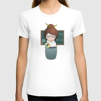 teacher T-shirts featuring Kokeshi Teacher  by Pendientera