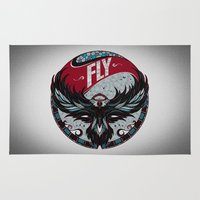 fly Area & Throw Rugs featuring Fly by Andreas Preis