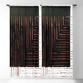 color block. black Blackout Curtain