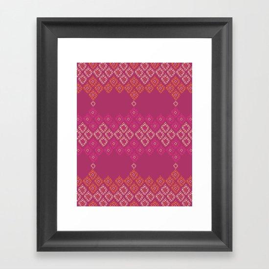 Moroccan Geo Framed Art Print