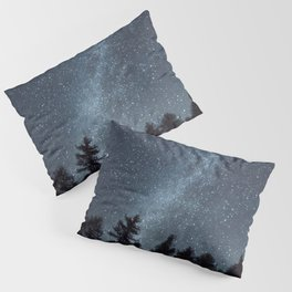 Milky Way in the Woods   Nature and Landscape Photography Pillow Sham