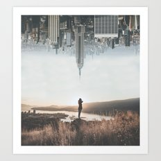 Between Earth & City Art Print