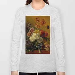 "George Jacobus Johannes van Os ""Still Life with Flowers"" Long Sleeve T-shirt"