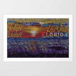 Holiday Florida Crepuscular Twilight Fx  Art Print
