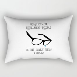 Happiness in Intelligent People Rectangular Pillow