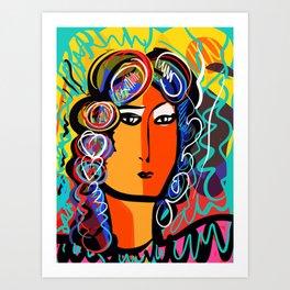 Portrait of a Gypsy Woman Fauvism Art By Emmanuel Signorino  Art Print