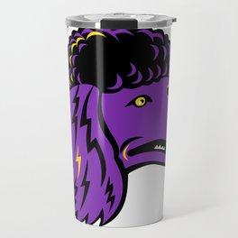 Poodle Head Mascot Travel Mug