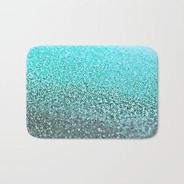 TEAL GLITTER Bath Mat