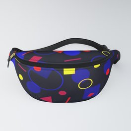Polyamory Pride Simple Retro Floating Shapes Fanny Pack