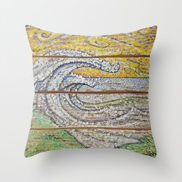 Waves on Grain Throw Pillow