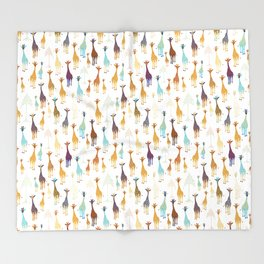 Giraffe of a different Color: white background Throw Blanket