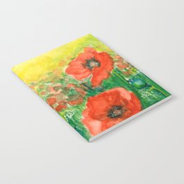Poppies at dusk Notebook
