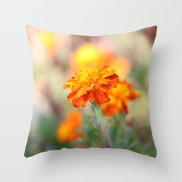 Marigolds In The Fall Throw Pillow