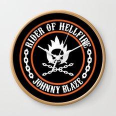 Rider of Hellfire Wall Clock