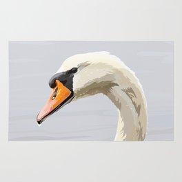 Elegance: Swan Rug