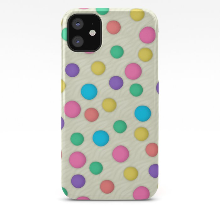 Polka Dots Wallpaper Background Iphone Case By Tees2go