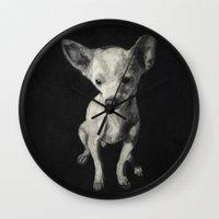 chihuahua Wall Clocks featuring Chihuahua dog  by Sara.pdf