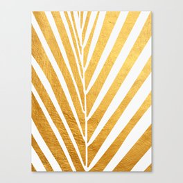 Golden leaf VIII Canvas Print