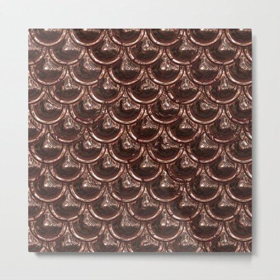 Precious copper scales Metal Print