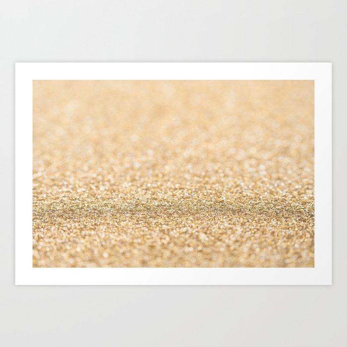 Beautiful champagne gold glitter sparkles Art Print