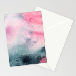 When indigo meets pink || watercolor Stationery Cards