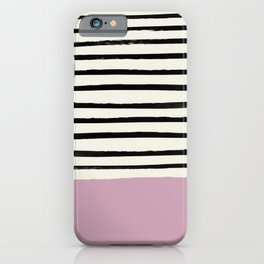 Dusty Rose & Stripes iPhone Case