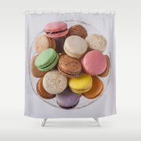 macarons Shower Curtains featuring Macarons by Sara Opatowsky
