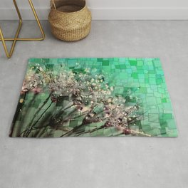 Fresh Dandelions Mosaic Rug