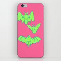 bats iPhone & iPod Skins featuring Bats by idrewthestars