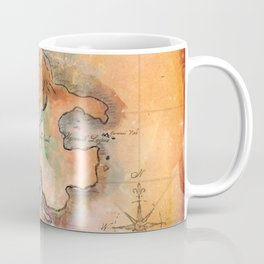 Never Land Map Coffee Mug