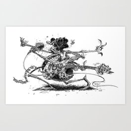 Guitah Spidah Art Print