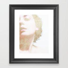 Self Portrait in Gold Framed Art Print