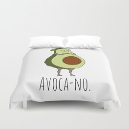 Avoca-no: Grumpy Avocado Duvet Cover