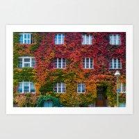 Autumn in Berlin, Westend Art Print