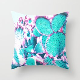 Cactus - watercolor Throw Pillow