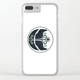 Odin's Ravens (Memory and Thought) Clear iPhone Case