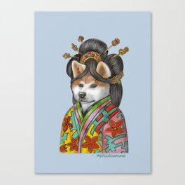 Akita Inu. The Geisha Canvas Print