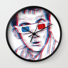 10th Doctor 3D Glasses Wall Clock