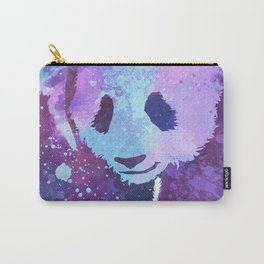 Watercolor Panda in Purple Carry-All Pouch
