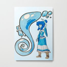 Lapis Lazuli in a Legend of Korra Cosplay Metal Print
