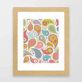 Power Paisley Framed Art Print