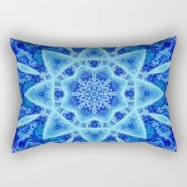 Ice Matrix Mandala Rectangular Pillow