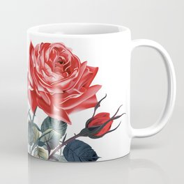 Beautiful vector realistic rose in vintage antique high detailed style Coffee Mug