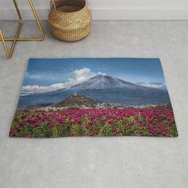 Popocatepetl Volcano Puebla Mexico Rug