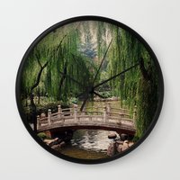 asian Wall Clocks featuring Asian Garden by MehrFarbeimLeben